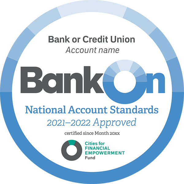 BankOn National Account Standards 2021-2022 Approved Seal